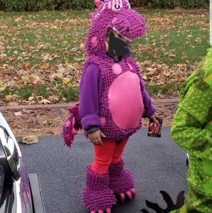 Pink and purple dragon costume